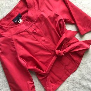 Blue Les Copains Rose Pink Belted Blazer Jacket